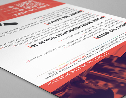 A5 flyer design for my previous employer
