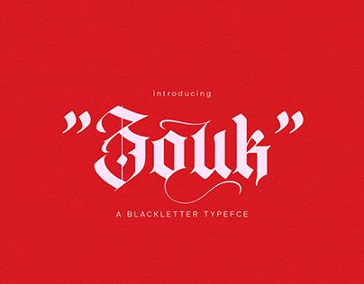 ZOUK BLACKLETTER TYPEFACE