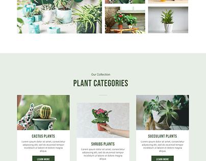 Gardening WordPress website