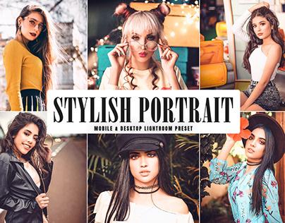 Free Stylish Portrait Mobile & Desktop Lightroom Preset