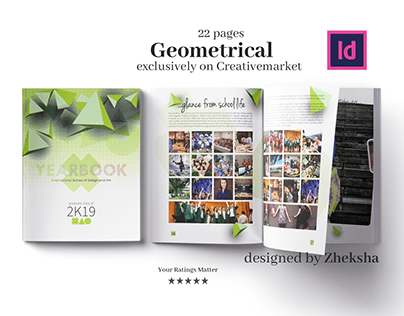 Geometrical Yearbook Template