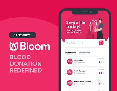 bloom - blood donation app casestudy