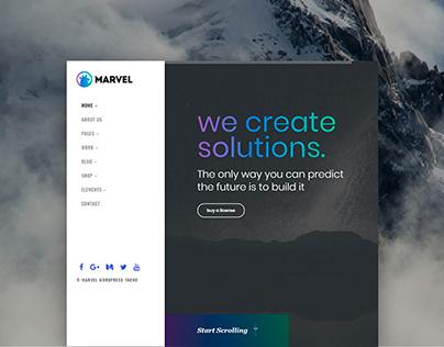 Marvel - vertical menu WordPress theme