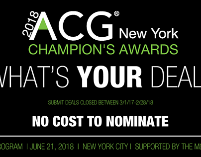 Eighth Annual ACG New York Champion's Awards