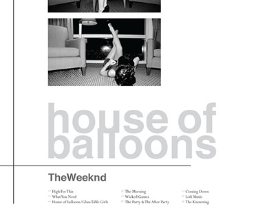 The Weeknd - House of Balloons Album Cover Redesign