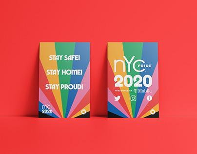 NYC Pride 2020 Signage Design