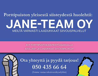 Flyer for Jane-Team Oy