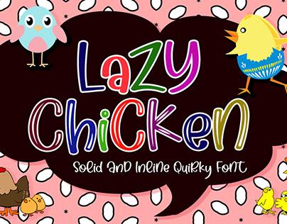 Lazy Chicken - Playful Handwritten Font