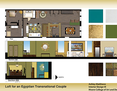 Loft for A Egyptian Transnational Couple