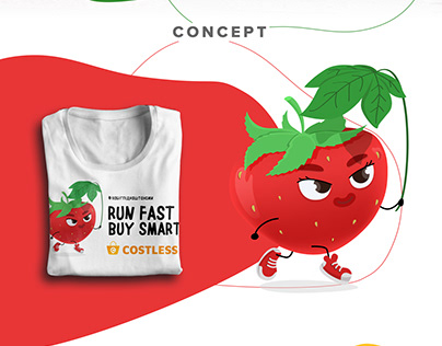 T-shirt Illustrations and Design for Costless Team Run