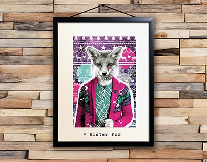 WINTER FOX - Design Textile
