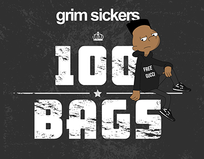 Grim Sickers - 100 Bags EP Artwork