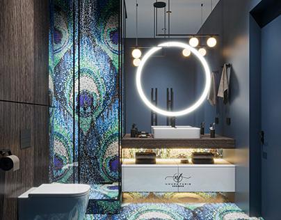 Aqua Blue Toilet