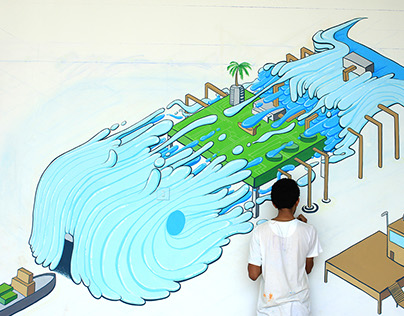 Eye-Kso Fish / Mural / Illustration