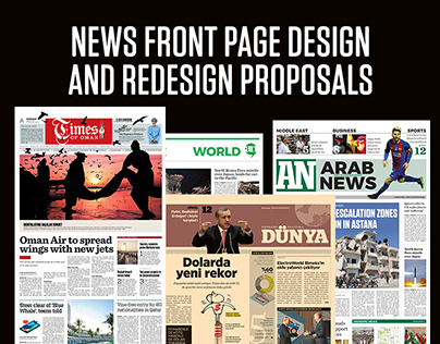 News front page and redesign proposals