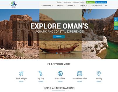 Oman Tourism Website Home