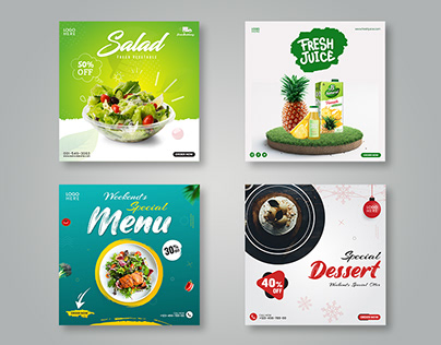 Food Promotional Social Media Post Template
