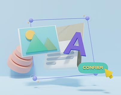 3d illustration for web design #1
