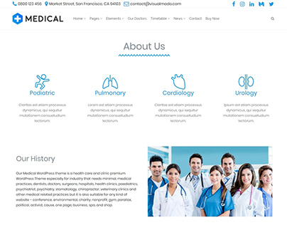 Medical WordPress Theme - About Us Templates