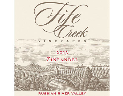 Fife Creek Vineyards Label Illustrated by Steven Noble