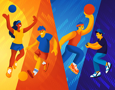 Diliman Games 2020 Launch Illustration