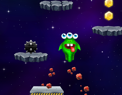 Mobile game design - Monster Jump Galaxy