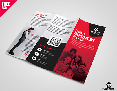 Business Tri-fold Brochure Template Design PSD
