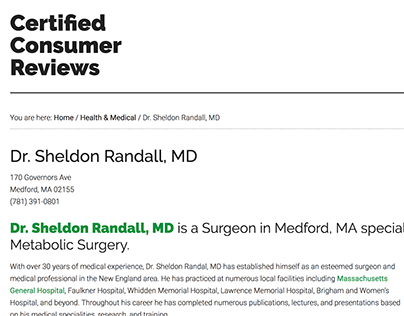 Certified Consumer Reviews - Sheldon Randall