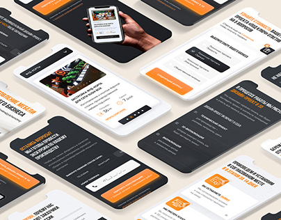 Landing page for a furniture manufacturing company