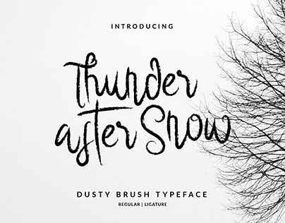 Thunder After Snow Font