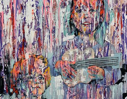 """""""Juno & Janosch"""" Acrylic Painting 80 x 100 cm"""