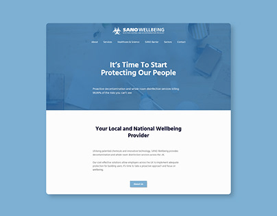 SANO Wellbeing - Website