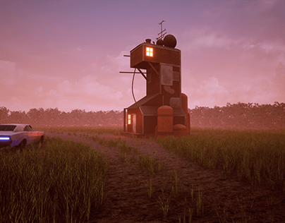 'IN A DILLEMA' 3D Art Based on Simon Stalenhag Concept