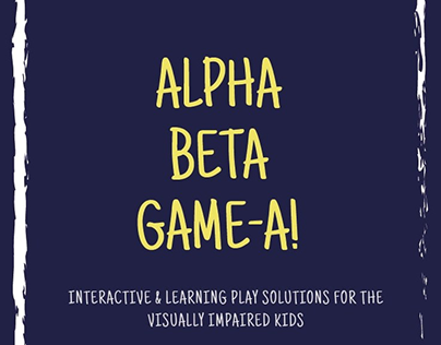 Alpha Beta Game-A: Games for the visually impaired kids
