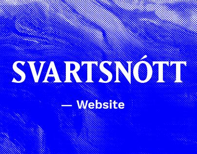 SVARTSNŌTT Website 2015—2017
