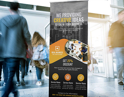Stunning Corporate Roll Up Banner