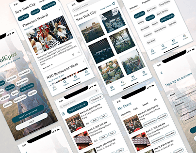 UI Design of a local events-finding app