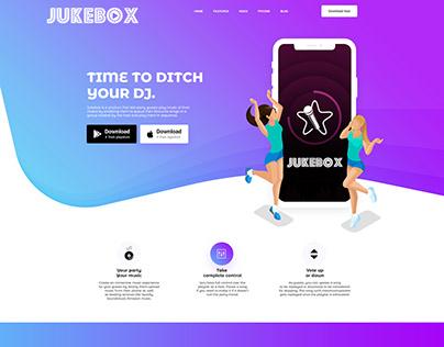 jukebox web app landing page