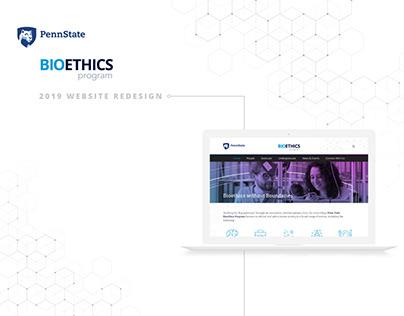 Bioethics Website Redesign