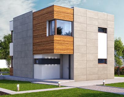 ArchViz - Modern Compact House