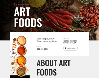 Art Foods, Catalogue site