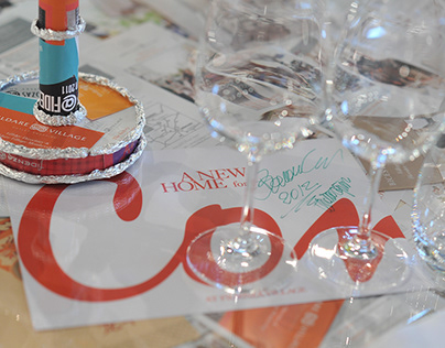 Tavolo cena di gala Convivio 2012
