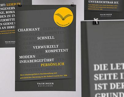 Plakatserie – Vaihinger Buchladen
