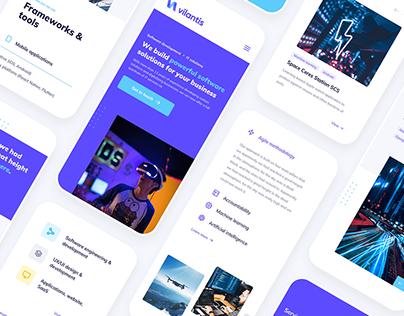 UX/UI design & branding for Vilantis