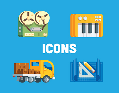 Icons Set for Music Services Agency