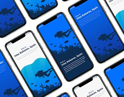 Diving app - Splash screen