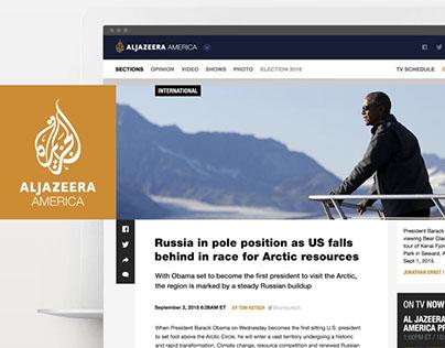 Al Jazeera America Website Concept