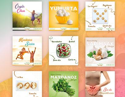 Nutritionist Social Media Post Designs 2021