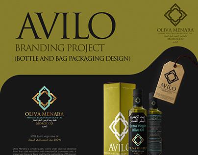 AVILO Branding Project - Bottle & Bag Designs