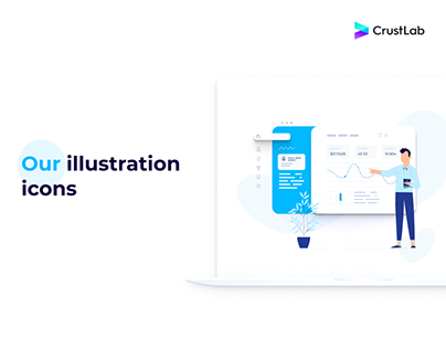 CrustLab's website illustrations